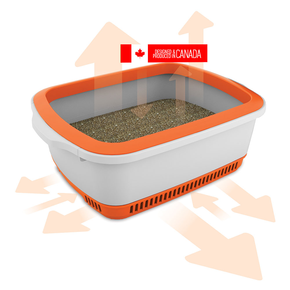 Cateco Cat Litter Box Orange Naturally For Pets