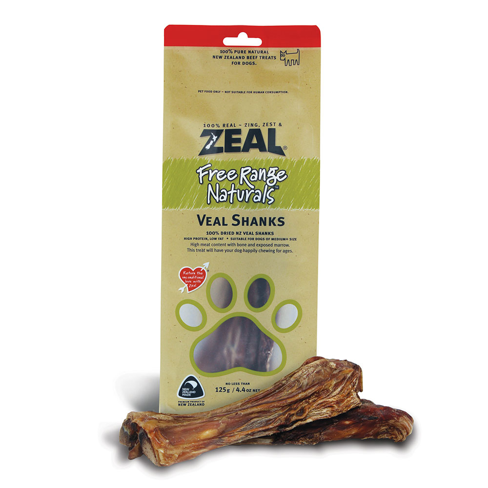 Zeal Veal Shanks 150g Naturally For Pets