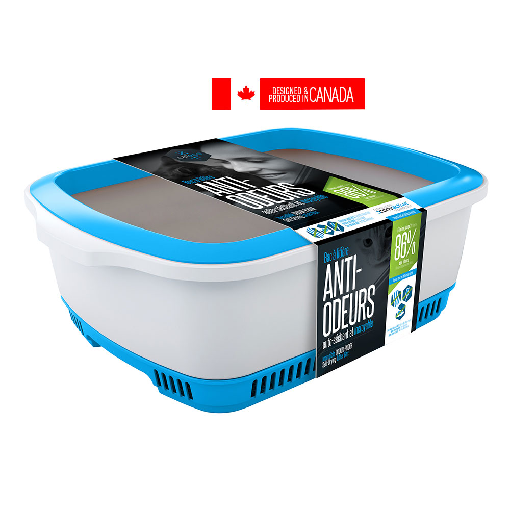 Cateco Cat Litter Box Blue Naturally For Pets