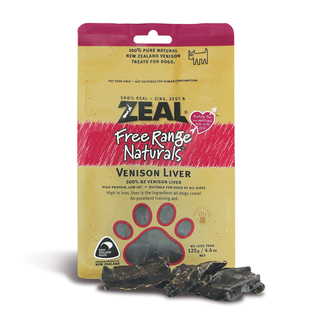 Zeal Venison Liver 125g Naturally For Pets
