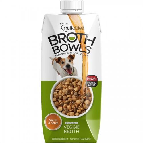 Fruitables Broth Bowls Vegetable Dog 500 Ml Naturally